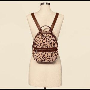 🐆 leopard cheetah print mini backpack